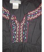 oh! Mamma Size L  Black Embroidered Around Neck & Bottom - $5.00