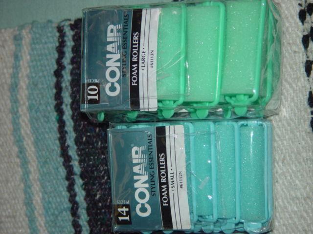 Conair 10 Styling Essentiala Foam Rollers Large & Conair 14 Small Foam Rollers