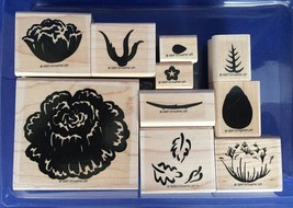 Stampin' Up Definitely Decorative Regal Rose 10 Stamps Two Step Retired ... - $6.88