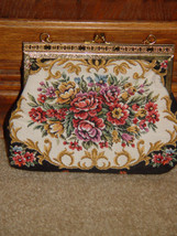Handbag With Gold Trim and Chain image 3
