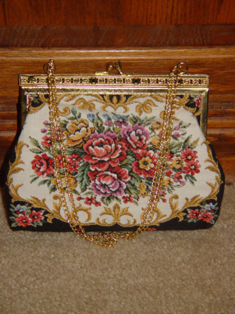 Handbag With Gold Trim and Chain