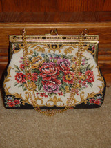 Handbag With Gold Trim and Chain image 1