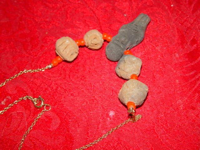 Genuine Handmade Clay Mummy Necklace