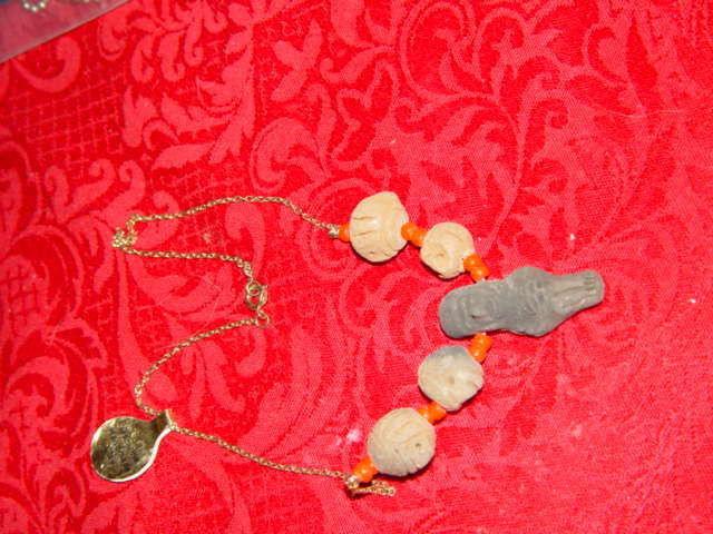 Genuine Handmade Clay Mummy Necklace image 4