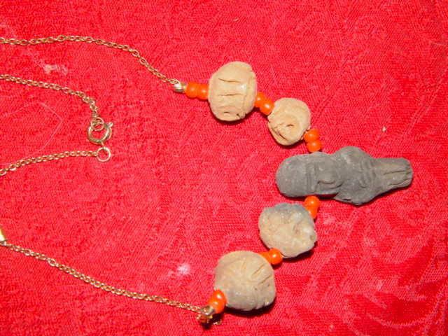 Genuine Handmade Clay Mummy Necklace image 3