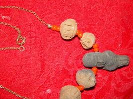Genuine Handmade Clay Mummy Necklace image 5