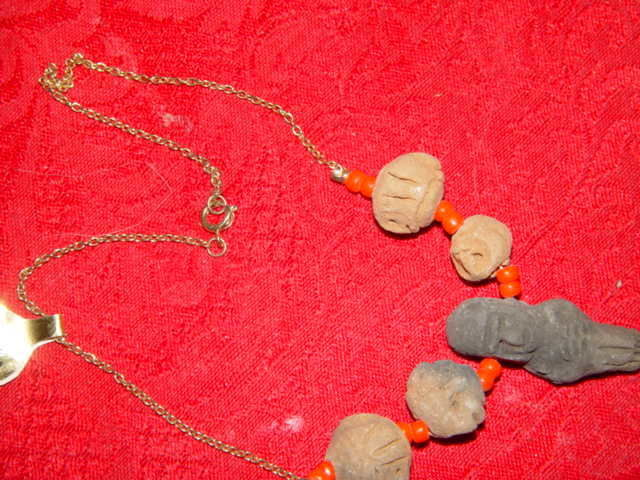 Genuine Handmade Clay Mummy Necklace image 9
