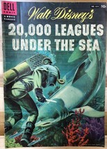 20,000 LEAGUES UNDER THE SEA (1954) Dell Four Color Comics #614 VG+ - $14.84