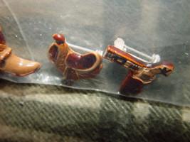Set of 3 Cowboys Pins Boot, GunBelt, And Saddle image 2