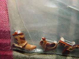 Set of 3 Cowboys Pins Boot, GunBelt, And Saddle image 8
