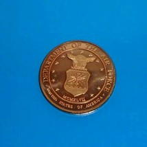 USA Department Of The Air Force Challenge Coin 1 AVDP Ounce .999 Fine Copper - $12.00