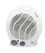Vie Air 1500W Portable 2-Settings White Home Fan Heater with Adjustable ... - $37.63