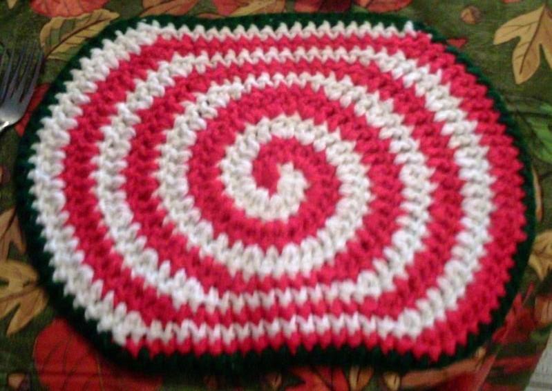 "X-Large Candy Swirl Hot Pad Crochet Pattern #3951B PDF File - for a 9"" X 13"" - $1.50"