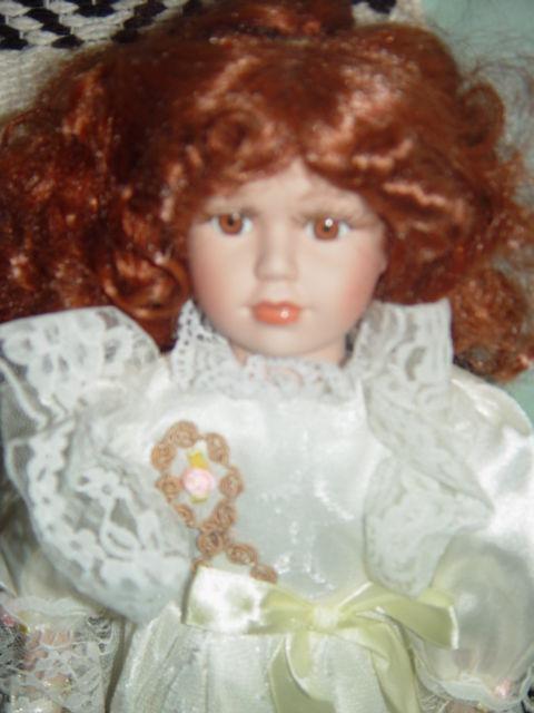 Red Hair Porcelain Doll image 3