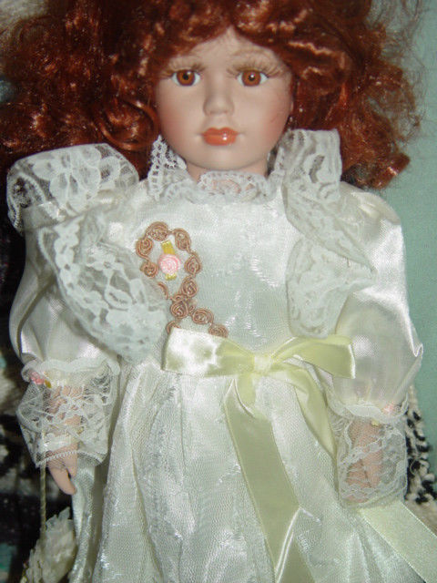 Red Hair Porcelain Doll