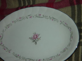 Royal Swirl  Fine China Japan Oval Serving Dish / Plate Vintage image 4