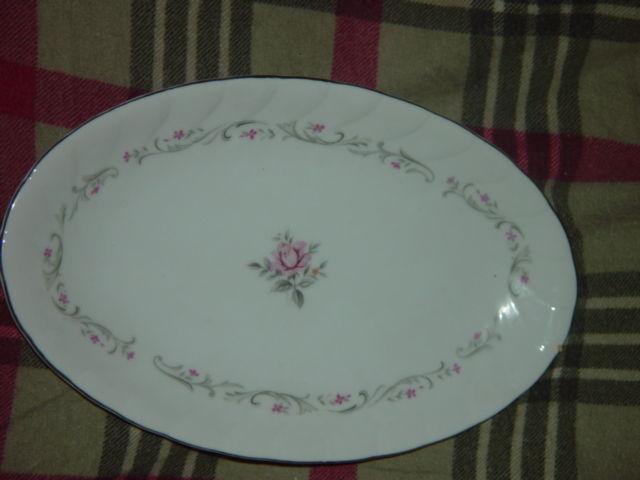 Royal Swirl  Fine China Japan Oval Serving Dish / Plate Vintage