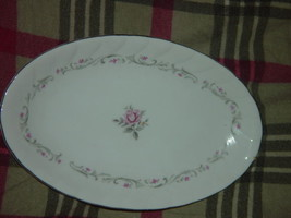Royal Swirl  Fine China Japan Oval Serving Dish / Plate Vintage image 1