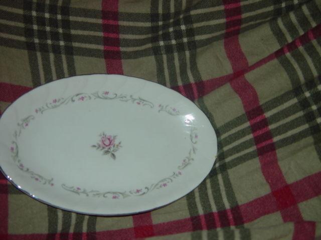 Royal Swirl  Fine China Japan Oval Serving Dish / Plate Vintage image 6