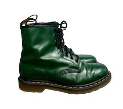 Dr Doc Martens 1460 Lace-Up Boots Size 8 UK 10 US Bottle Green Leather - $91.99