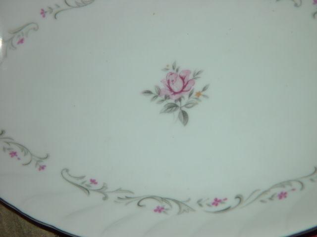 Royal Swirl  Fine China Japan Oval Serving Dish / Plate Vintage image 9