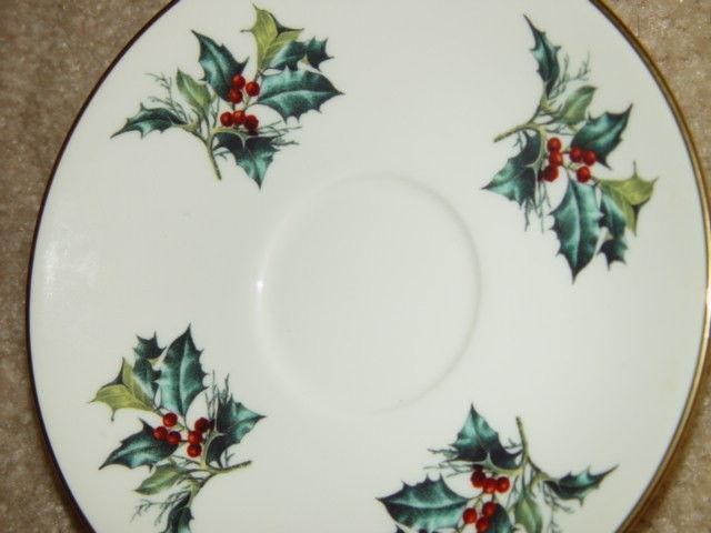 1995 Lenox Winter Greet Saucer Fine Ivory China