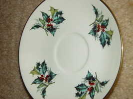 1995 Lenox Winter Greet Saucer Fine Ivory China image 2