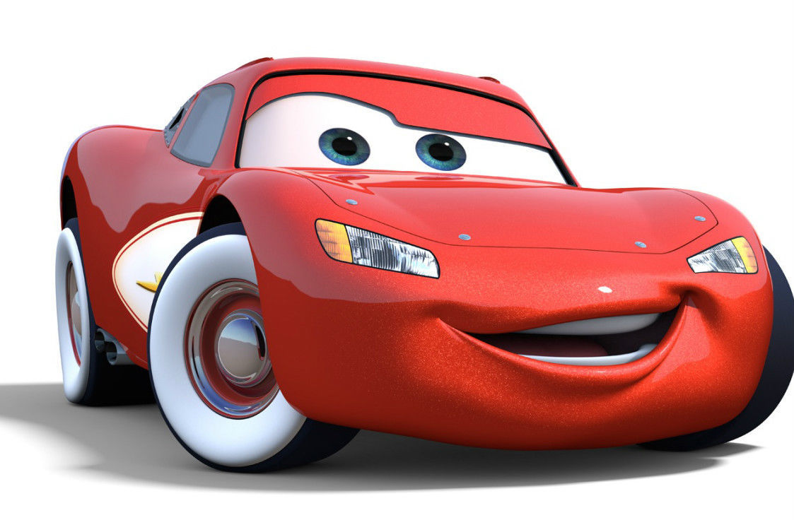 Lighting Mcqueen From Cars 5 x 7 Color Photo