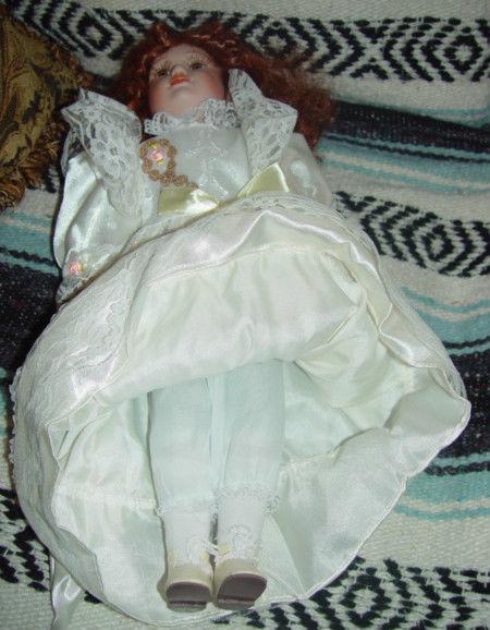 Red Hair Porcelain Doll image 8