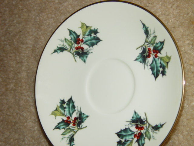 1995 Lenox Winter Greet Saucer Fine Ivory China image 6