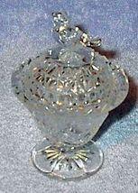 Vintage Bird Covered Crystal Dish Press Pattern Glass - $7.00