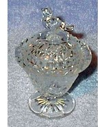 Bird Covered Crystal Dish Press Pattern Glass - $6.95