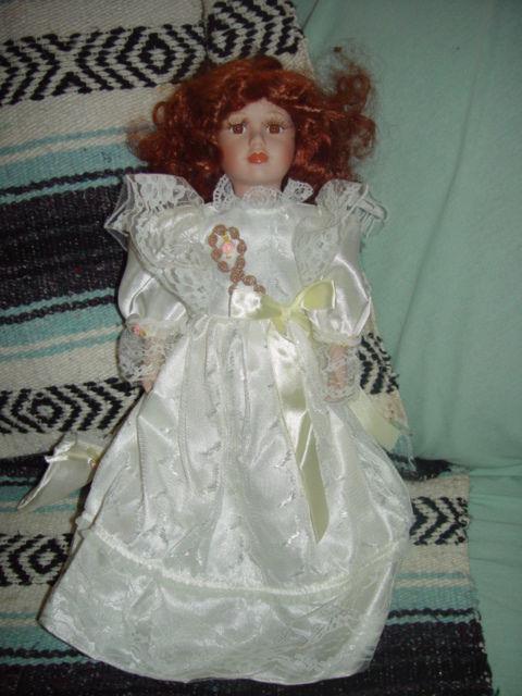 Red Hair Porcelain Doll image 9