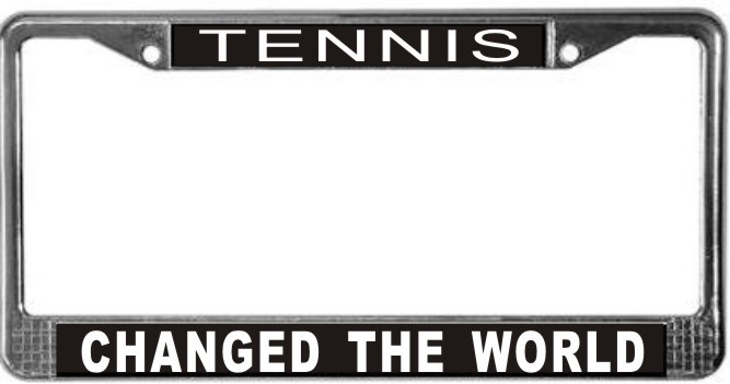 Primary image for Tennis Occupy Wall Street License Plate Frame (Stainless Steel)