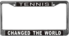 Tennis Occupy Wall Street License Plate Frame (Stainless Steel) - $13.99