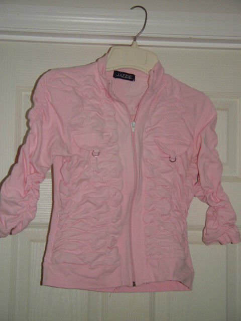 Jazzie Pink Light Jacket Size M Juniors