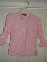 Jazzie Pink Light Jacket Size M Juniors image 1