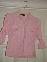 Jazzie Pink Light Jacket Size M Juniors image 3