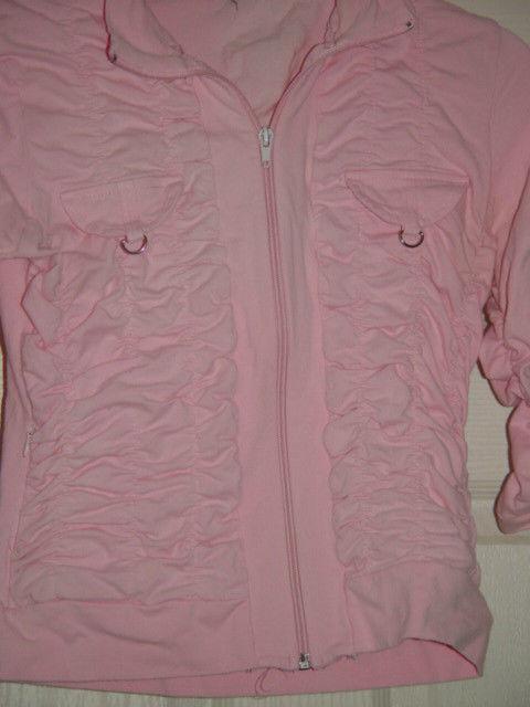 Jazzie Pink Light Jacket Size M Juniors image 6
