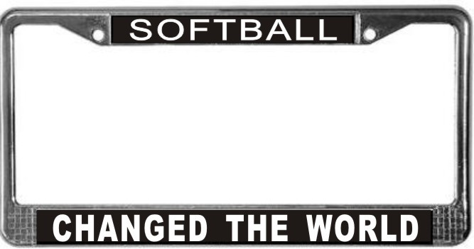 Primary image for Softball Occupy Wall Street License Plate Frame (Stainless Steel)