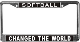 Softball Occupy Wall Street License Plate Frame (Stainless Steel) - $13.99