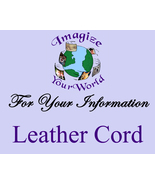 More INFO for my LEATHER Cord Jewelry  (This is an INFORMATION Page ONLY) - $0.00