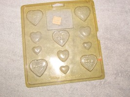 WILTON HEARTS I chocolate candy mold sheet 11 HEART molds  w/instruc - $3.00