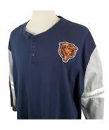 Chicago Bears Mitchell & Ness 3/4 Sleeve Henley Shirt Mens 3XL Embroider... - $26.99