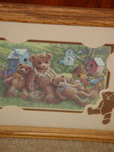 Bear Blue Birds and Bird Houses  With Cut out Bear Wal Art image 6