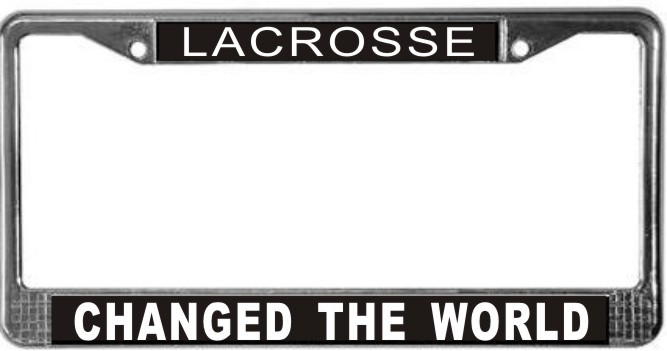 Primary image for Lacrosse Occupy Wall Street License Plate Frame (Stainless Steel)