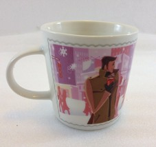 Nescafe Nestle Winter Love Coffee Tea Mug Ltd Edition 2006 8 oz Pink Bac... - $27.93