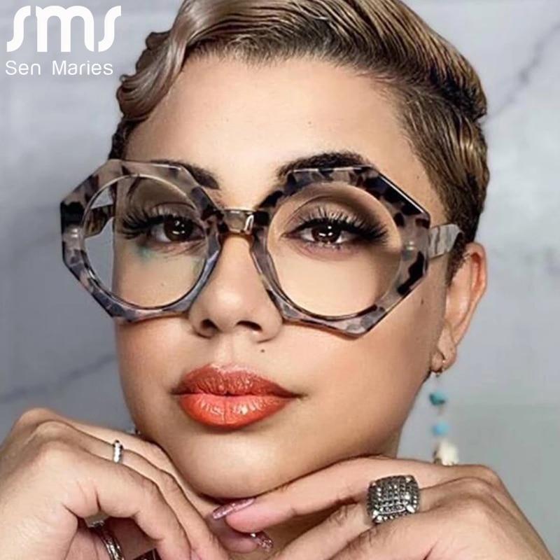 optical clear transparent lens myopia fashion metal frame prescription eyewear computer glasses