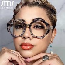 Women Glasses Frames Optical Clear Transparent Lens Myopia Fashion Metal Frame P image 1