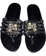 NEW SAM EDELMAN Bryce 6.5 M sandals thongs shoes jeweled slides leather ... - $58.19